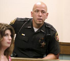 Chardon police officer Jon Bilicic talks about his arrest of Chardon High School suspected gunman TJ Lane in court in Chardon