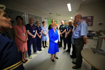 Britain's Queen Elizabeth visits the Royal Manchester Children's Hospital in Manchester