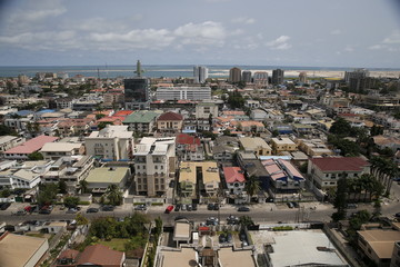 A view of the Victoria Island district in Nigeria's commercial capital Lagos