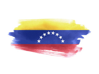 Venezuela flag grunge painted background