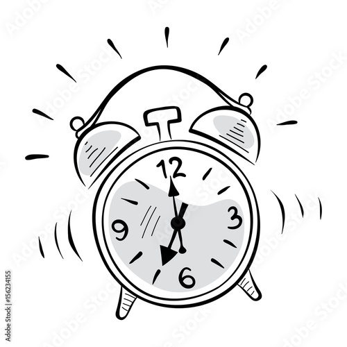 alarm clock graphic vector illustration sketch stock image and Alarm Clock Happy alarm clock graphic vector illustration sketch