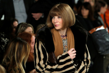 Vogue editor-in-chief Anna Wintour exits after attending the Calvin Klein Autumn/Winter 2017 collection presentation during New York Fashion Week