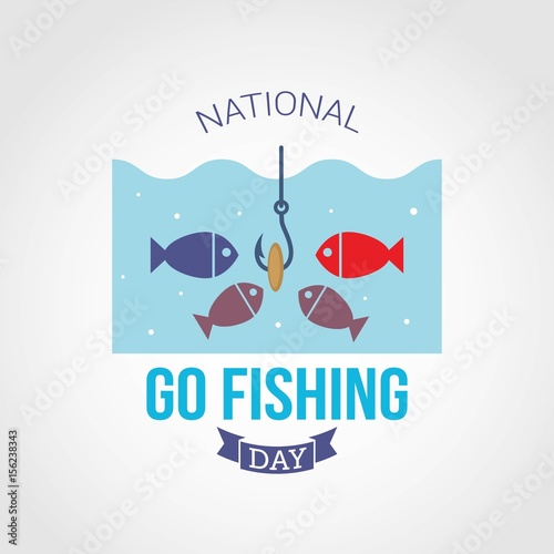 """Happy National Hunting And Fishing Day: """"National Go Fishing Day"""" Stock Image And Royalty-free"""