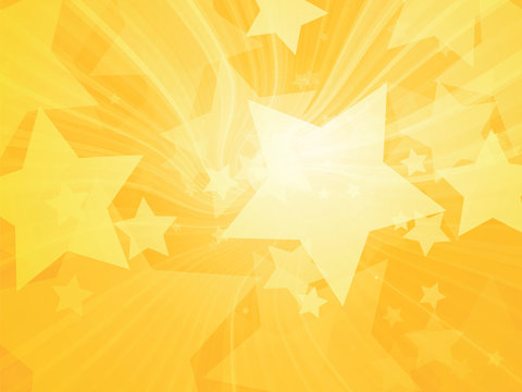 stars abstract rays yellow background
