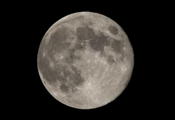 A full moon over the Washington region on the night of moon walking astronaut Neil Armstrong's funeral