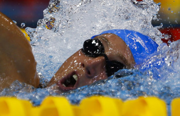 Belmonte Garcia of Spain swims to win the women's 1500m freestyle final at the European Swimming Championships in Berlin
