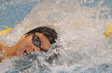Meichtry of Swiss competes in the men's 200m freestyle heats during the 2012 European Swimming Championship in Debrecen