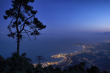 The French Riviera from the heavens