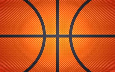 Horizontal ball texture for basketball, sport background, vector illustration