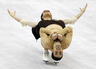 Hurtado and Diaz of Spain perform during the ice dance free dance at the ISU World Figure Skating Championships in Nice