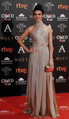 Lago poses on the red carpet before the Spanish Film Academy's Goya Awards ceremony in Madrid