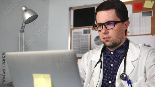 blonde man is punishing the hot doctor wearing glasses  78060