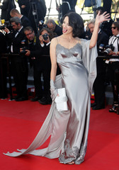 Actress Asia Argento arrives at the closing ceremony of the 66th Cannes Film Festival