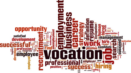 Vocation word cloud