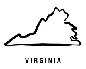 Virginia simple map shape