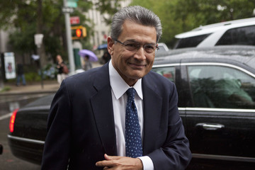 Gupta, a former Goldman Sachs Group Inc and Procter & Gamble board member, arrives at Manhattan Federal Court in New York