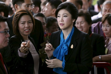 Ousted former Thai Prime Minister Yingluck Shinawatra arrives at the Supreme Court in Bangkok