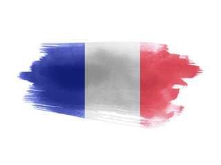 France flag grunge painted background