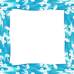 Water or wave frame - illustration for children