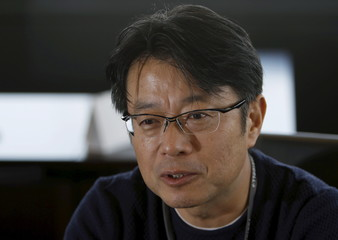 Awata, President of Toridoll Corp, speaks during an interview with Reuters at its Tokyo Headquarters