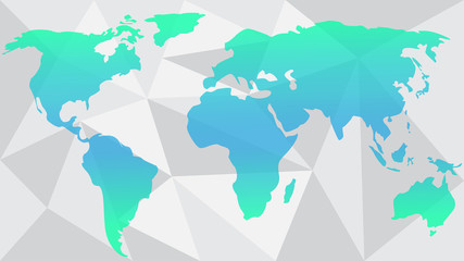 Vector World map abstract illustration colorful