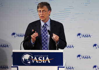 Microsoft founder Bill Gates speaks at a session of the Boao Forum for Asia annual conference in Boao town