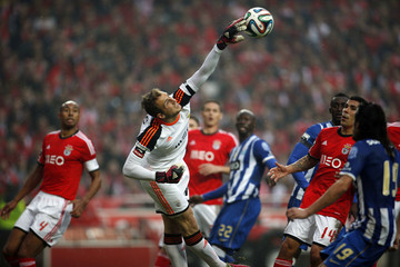 Benfica's goalkeeper Oblak saves the ball  during their Portuguese Premier League soccer match against Porto at Luz stadium in Lisbon