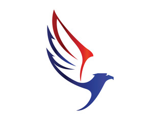 Modern American Eagle Patriotic Special Force Logo