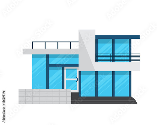 Modern house illustration logo stock image and royalty for Modern house clipart