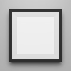 Black square Image Frame Template with Shadow