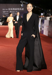 Hong Kong actress and singer Cheng poses for photographers on the red carpet at the 50th Golden Horse Film Awards in Taipei