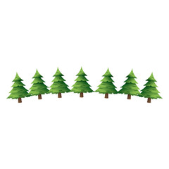 pine tree for christmas decoration ornament vector illustration