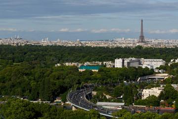 Poster de jardin Paris View on Paris and the Eiffel Tower