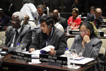 Delegations from Bolivia's Parliament Ramirez and Condori participate in the 128th Assembly of the IPU and Related Meetings in Quito
