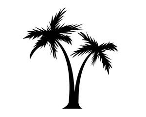 pittogramma palme vettoriale silhouette