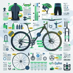 crosscountry montain bike infographic
