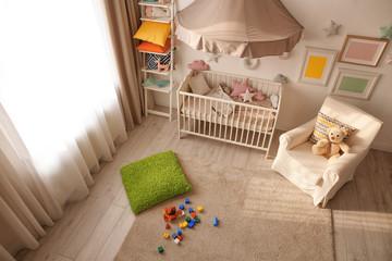 Modern interior design of baby room