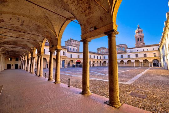 Piazza Castello in Mantova architecture view