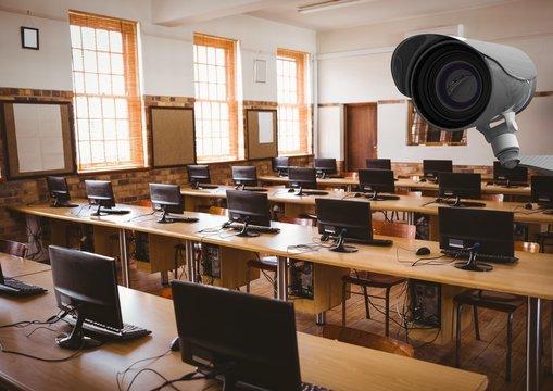 CCTV control a computer classroom