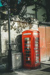 Red telephone booth -  a British symbol
