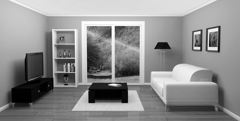 salon maison appartement 3D