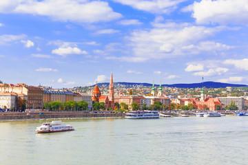 Budapest. Danube. View on Buda