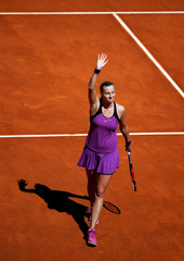 Tennis - Madrid Open - Petra Kvitova of Czech Republic v Elena Vesnina of Russia
