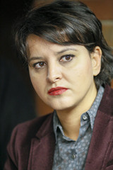 French Education Minister Najat Vallaud-Belkacem is seen during a visit to a studio in Pole Pixel in Villeurbanne