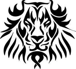 illustration design mask of lion