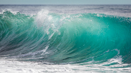 Big turquoise blue wave