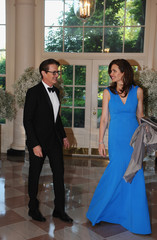 Desiree Gruber, Chief Executive Officer, Full Picture and actor Kyle MacLachlan arrive for the state dinner in honor of the Nordic Summit at the White House in Washington
