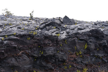 Volcanic area in Hawaii (Big Island)