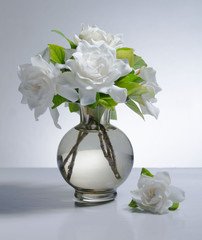Spring flower bouquet of white gardenias, Still Life 2