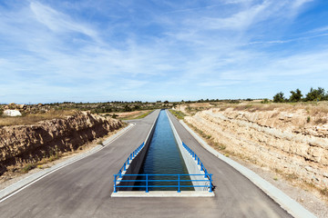 Irrigation Canal in a Sunny Day